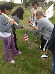 Click to view album: Flagging at Oak Grove Cemetery